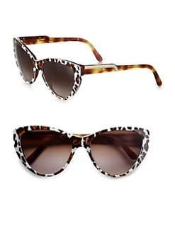 Stella McCartney - Leopard-Print Cat's-Eye Sunglasses