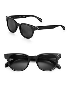Oliver Peoples - Afton Acetate Square Sunglasses/Black
