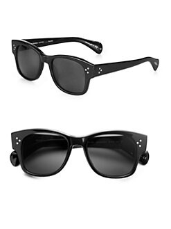 Oliver Peoples - Jannsson Square Acetate Sunglasses/Black