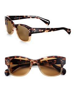 Oliver Peoples - Jannsson Squared Acetate Sunglasses/Brown