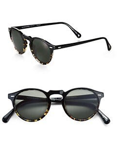 Oliver Peoples - Gregory Peck Round Polarized Sunglasses