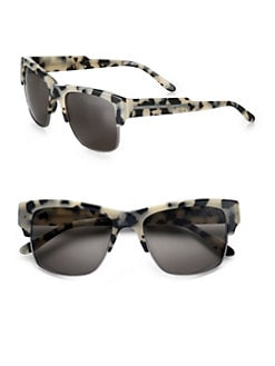 Stella McCartney - Oversized Square Sunglasses/Grey Tortoise