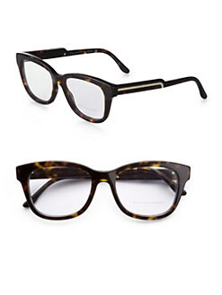 Stella McCartney - Square Reading Glasses/Brown Tortoise