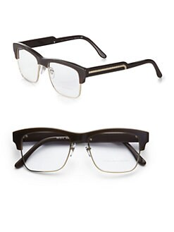 Stella McCartney - Squared Acetate & Metal Reading Glasses