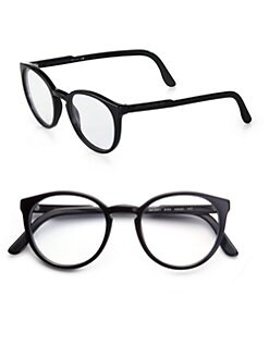 Stella McCartney - Round Acetate Reading Glasses/Black