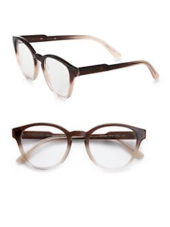 Stella McCartney - Oversized Round Acetate Reading Glasses/Taupe