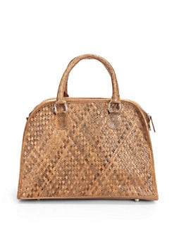 Beirn - Ali Woven Watersnake Top Handle Bag