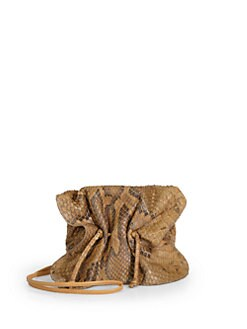 Carlos Falchi - Buffalo Mini Python Crossbody Bag/Whiskey