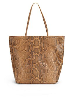 Carlos Falchi - Python Medium Shopping Tote/Whiskey