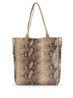 BCBGMAXAZRIA - Templey Snakeskin-Print Leather Tote