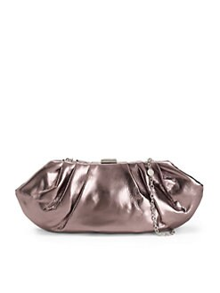 BCBGMAXAZRIA - Metallic Evening Clutch/Pewter
