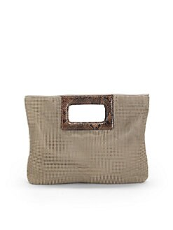 BCBGMAXAZRIA - Mesh Top Handle Clutch