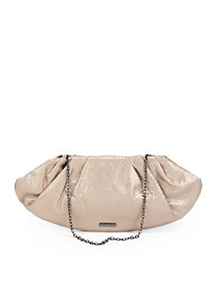 BCBGMAXAZRIA - Metallic Evening Clutch/Champagne