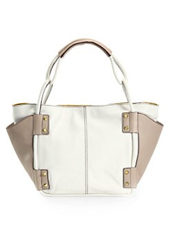 orYANY - Dara Colorblock Tote/White