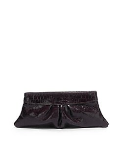 Lauren Merkin - Eve Shiny Baby Croc-Print Clutch