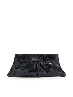 Lauren Merkin - Eve Python-Print Calfskin Clutch