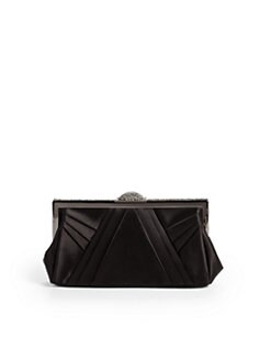 Judith Leiber - Aminah Pleated Satin Clutch