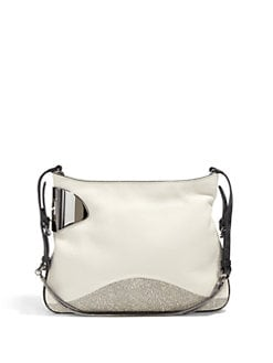 Halston Heritage - Texture Block Leather Short Shoulder Bag