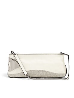 Halston Heritage - Convertible Texture Block Leather Clutch