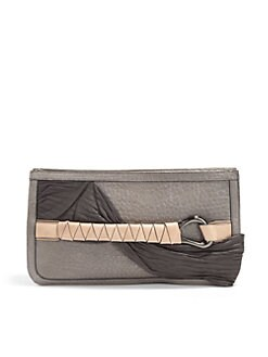 Halston Heritage - Draped Leather Executive Clutch