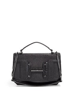 Halston Heritage - Convertible Texture Block Shoulder Bag/Black