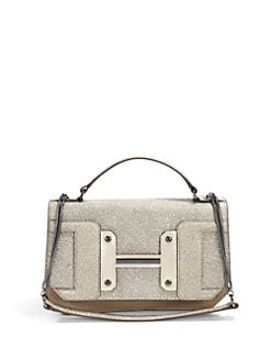 Halston Heritage - Convertible Texture Block Shoulder Bag/Sand