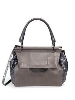 Halston Heritage - Texture Block Large Top Handle Bag