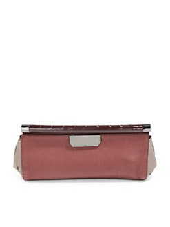 Halston Heritage - Colorblock Leather East/West Clutch