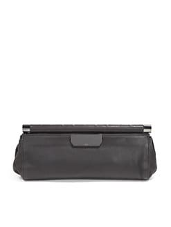 Halston Heritage - Leather East/West Clutch