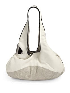 Halston Heritage - Texture Block East/West Soft Leather Tote