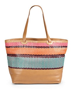 Rebecca Minkoff - Toki East/West Woven Leather Tote