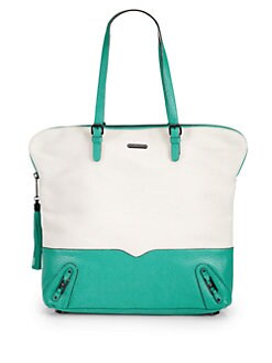 Rebecca Minkoff - Saying Canvas & Leather Tote