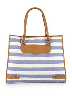 Rebecca Minkoff - Diamond Stripe Canvas Tote