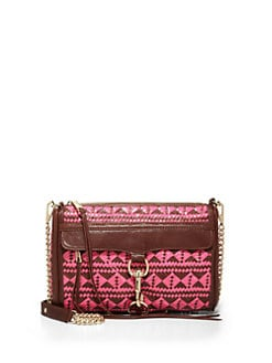 Rebecca Minkoff - MAC Woven Leather Clutch