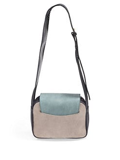 Stuart Weitzman - Colorblock Nubuck Leather Crossbody Bag