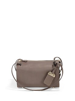 Stuart Weitzman - Leather Buckle Satchel