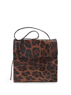 Stuart Weitzman - Layered Leopard Pony Hair Shoulder Bag