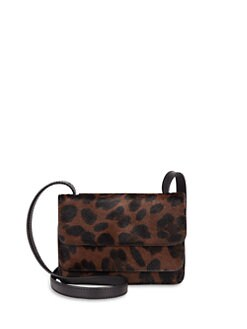 Stuart Weitzman - Layered Leopard Pony Hair Crossbody Bag