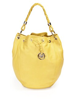 Stuart Weitzman - Drawstring Leather Bucket Tote