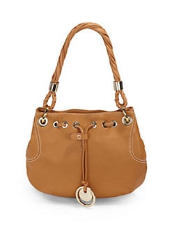 Stuart Weitzman - Drawstring Leather Shoulder Bag