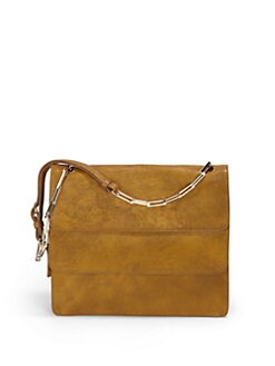 Stuart Weitzman - Layered Bison Leather Shoulder Bag
