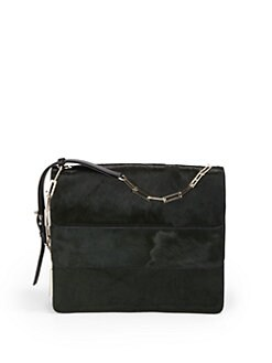 Stuart Weitzman - Layered Pony Hair Shoulder Bag