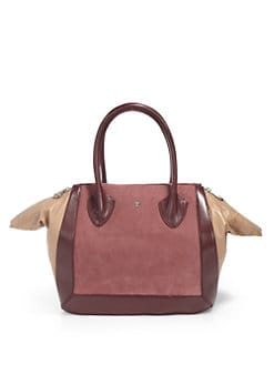 Pour La Victoire - Maison Suede & Leather Medium Tote