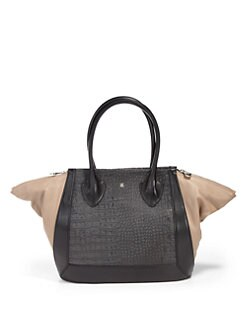 Pour La Victoire - Maison Croco-Embossed Leather Medium Tote