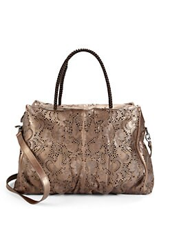 nada sawaya - Jimmy Flower Lasercut Satchel/Bronze