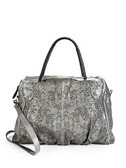 nada sawaya - Jimmy Flower Lasercut Satchel/Silver