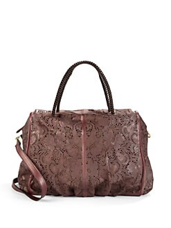 nada sawaya - Jimmy Flower Lasercut Satchel/Burgundy