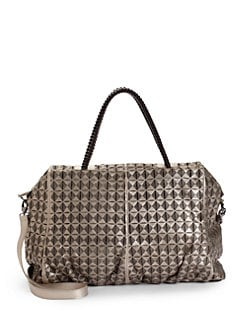 nada sawaya - Jimmy Diamond Leather Tote/Platinum