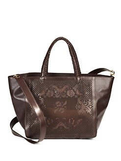 nada sawaya - Pizzo Leather Tote/Chocolate