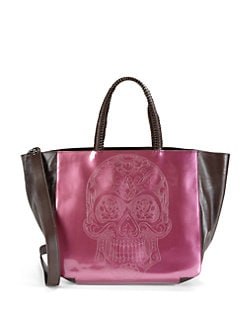 nada sawaya - Skull Patent Leather Tote